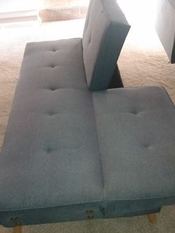 Gray Futon Full Sleeper (Small Tear On Front And On Back) for Sale in Atlanta,  GA