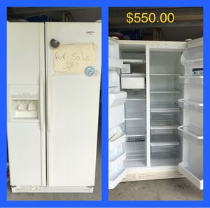 Whirlpool refrigerator; today for $450 for Sale in Deltona, FL