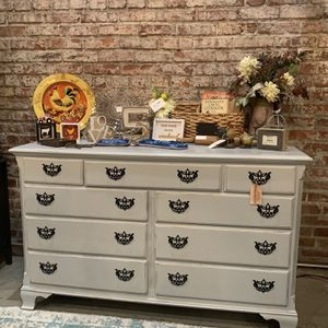 Refinished Gray 9 Drawer Farmhouse Dresser for Sale in Bonney Lake, WA