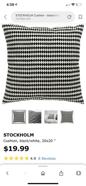 IKEA Stockholm cushion covers! A pair, great condition for Sale in Oakland, CA