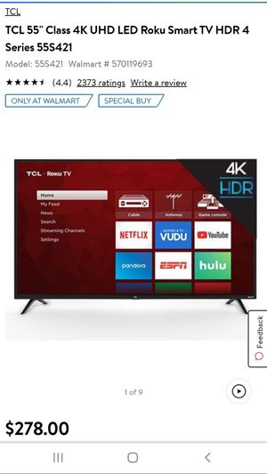 TCL 55 inch Roku TV for Sale in Los Angeles, CA