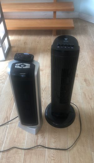 Heater and fan! Moving special! for Sale in San Diego, CA