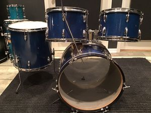 MIJ blue sparkle drum kit 12, 13, 16, 20. From the 60's - 70's for Sale in Barrington, IL