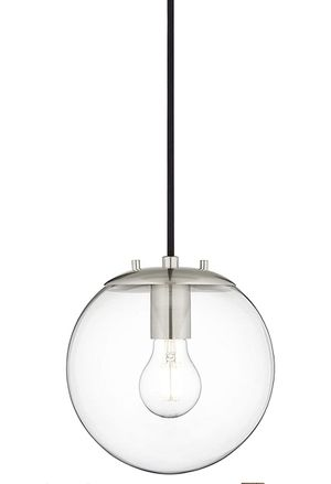 Set of Two ceiling glass ball globe pendant lights lighting for Sale in Redmond, WA