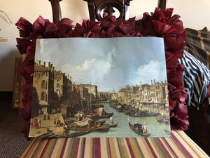 Painting: The grand canal near the Rialto Bridge, Venice for Sale in Cleveland, OH