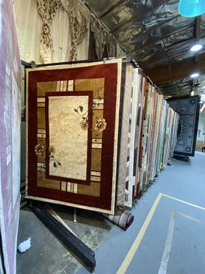 5x7 area rugs carpet rugs transitional design super soft silky colors burgundy cream gold green for Sale in Los Angeles, CA