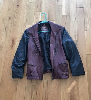 Red and Black Faux Leather Jacket for Sale in Ashburn, VA