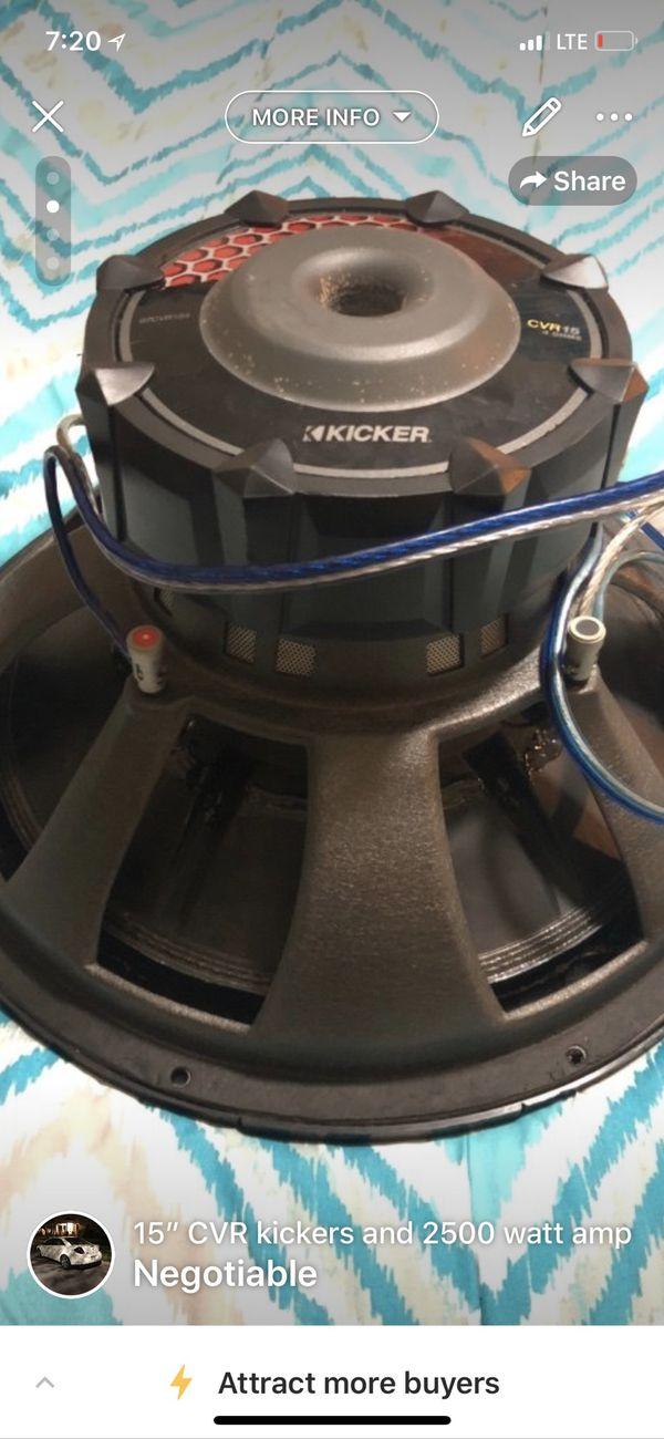 """15"""" CVR kickers with 2500 watt amp for Sale in Beloit, WI - OfferUp"""