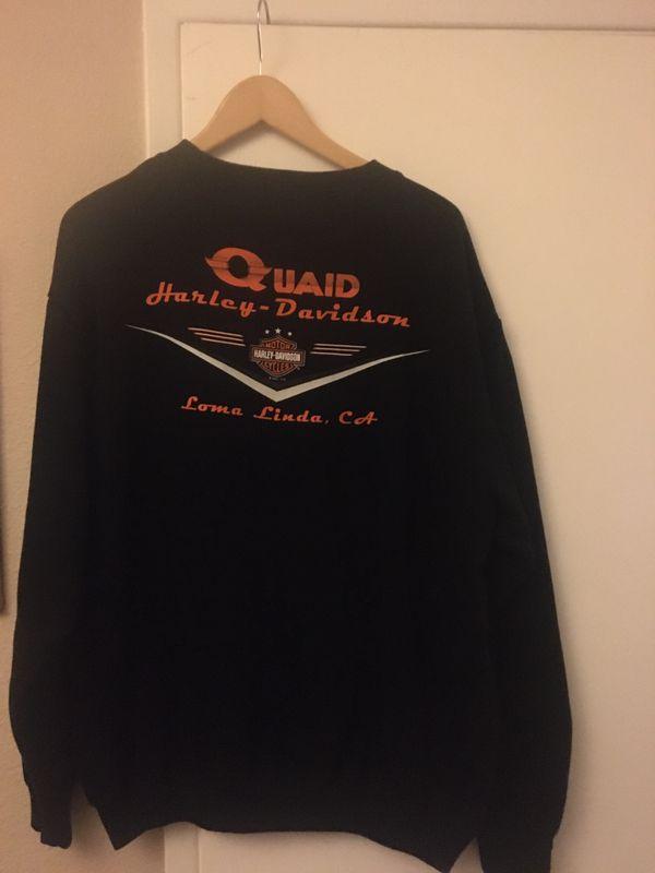 Harley Davidson Black Sweatshirt Large