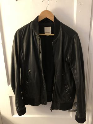 Diesel Men's Black Leather Jacket for Sale in Falls Church, VA