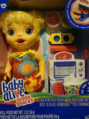 Baby Alive Super Snacks Doll Food Play Oven diaper more for Sale in Coral Springs, FL
