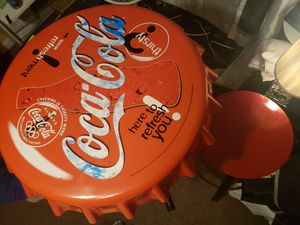 Coca-Cola bar high table and stool for Sale in Georgetown, KY