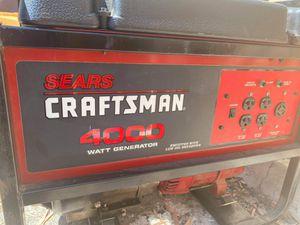 Craftsman 4000w 8hp Generator for Sale in San Diego, CA