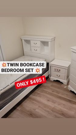 💥⭐ Twin Bookcase Bedroom Set ⭐💥 for Sale in Los Angeles,  CA
