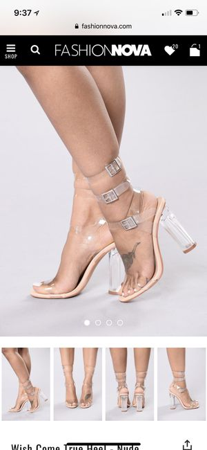 Clear chunky heel for Sale in Silver Spring, MD