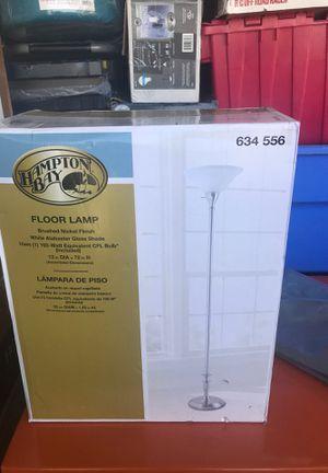 Hamilton bay floor lamp price list nickel finish for Sale in Antioch, CA