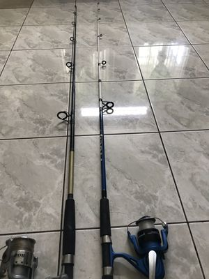 2 pier fishing rods $40 take them both for Sale in Huntington Beach, CA
