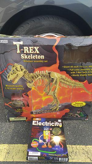 T-Rex Dinosaur Assembly Set & Science Wiz Electricity Set for Sale in Strongsville, OH