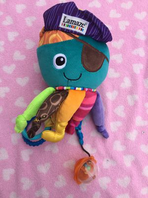 Lamaze baby toy captain calamari octopus stroller car seat toy for Sale in Elmont, NY