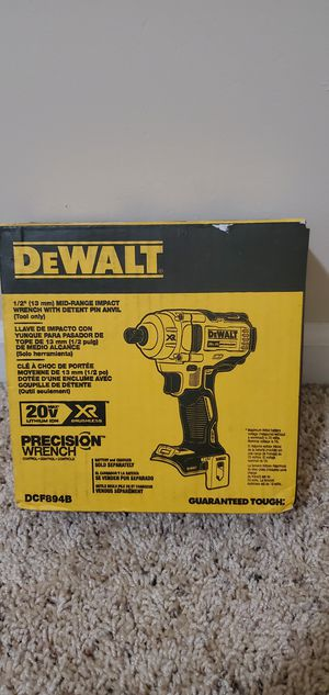 DEWALT 20-Volt MAX XR Lithium-Ion Brushless Cordless 1/2 in. Impact Wrench with Detent Pin Anvil (Tool-Only) for Sale in Bakersfield, CA