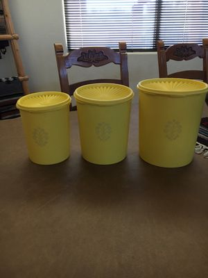Vintage Tupperware Canisters for Sale in Tucson, AZ