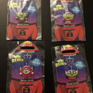 Disney Pixar Alien Remix Series 4 Shop Disney Pin Set (Forky, Miguel, Carl, Incredibles) for Sale in Fresno, CA