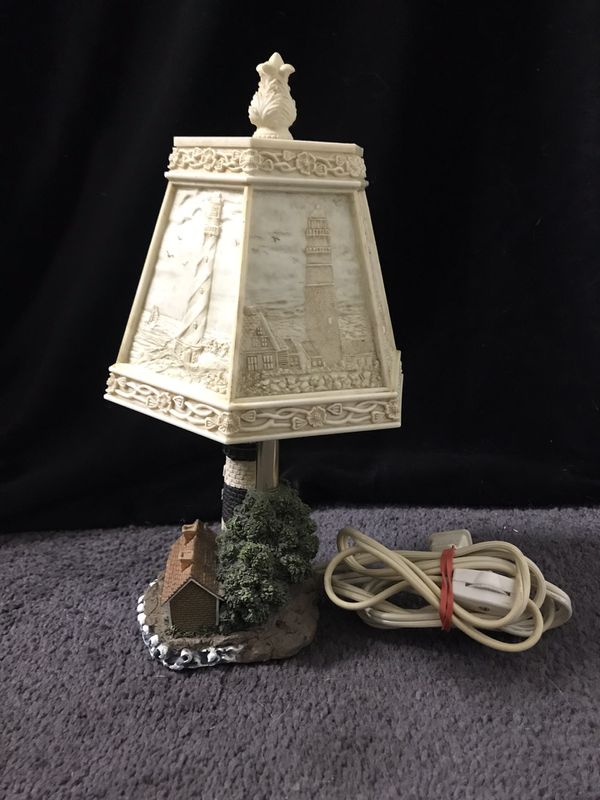 Lighthouse Lamp Detailed And Engraved Shade