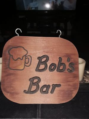 Great Christmas gift Bob's Bar wooden sign never used for Sale in Addison, IL