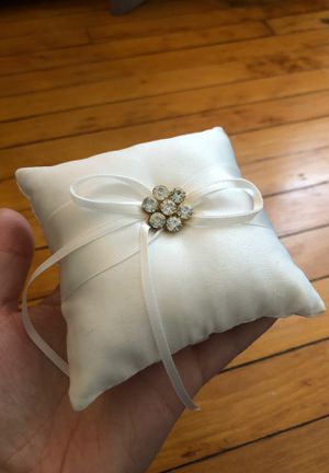 Small Pillow for Wedding Ring Bearer (white) for Sale in Westwood, MA