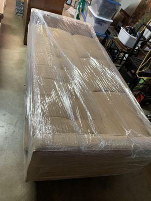 Futon sofa tan beige for Sale in Huntington Beach, CA