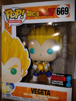 Funko pop nycc vegeta dragon Ball z dbz hot topic exclusive for Sale in Ontario, CA
