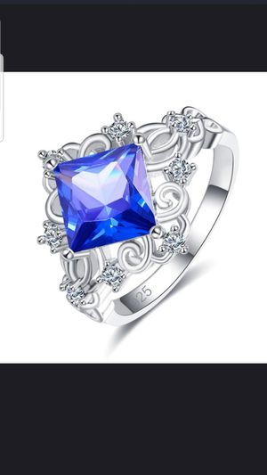 Sterling silver tanzanite and white sapphire ring size 8 for Sale in Dundalk, MD