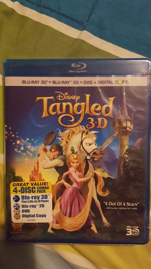 Tangled 3D Blu-Ray Combo Pack (No Digital Copy) for Sale in Riverside, CA