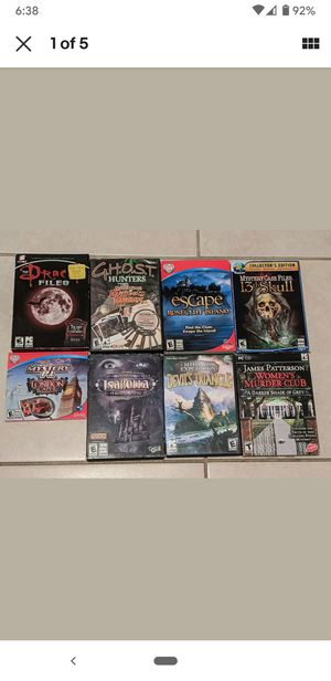 PC / Computer Game lot Dracula ghost hunters hidden object puzzle mystery for Sale in Miami, FL