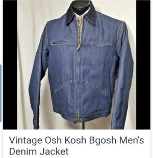 Vintage Jean Jacket Osh Kosh Denim Coat Union Made in USA 42 for Sale in Sylmar, CA