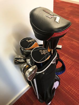 Power bilt golf bag with clubs for Sale in Philadelphia, PA