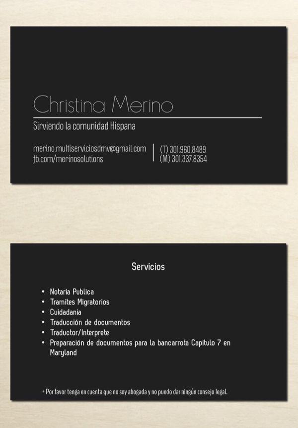 Servicios - notaria publica, tramites migratorios, etc