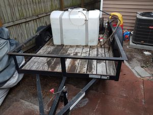 5x8 trailer with 75gallon water tank like new with 3000 psi pressure washer new only used 3 times also includes attachments 4000 or best offer for Sale in Palmetto, FL