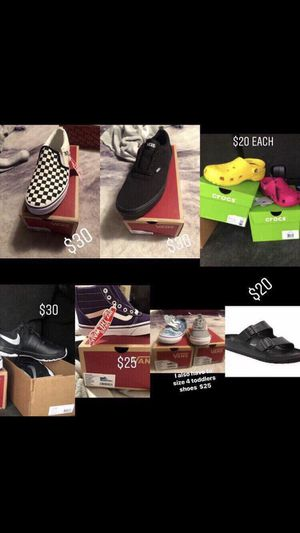Vans & crocs & toddlers shoes for Sale in Nashville, TN