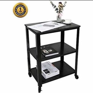 Kitchen Serving Carts,3-Tier Rolling Utility Cart Wooden Table Microwave Oven Stand Storage Cart Baker's Rack,Industrial Design for Sale in Hacienda Heights, CA