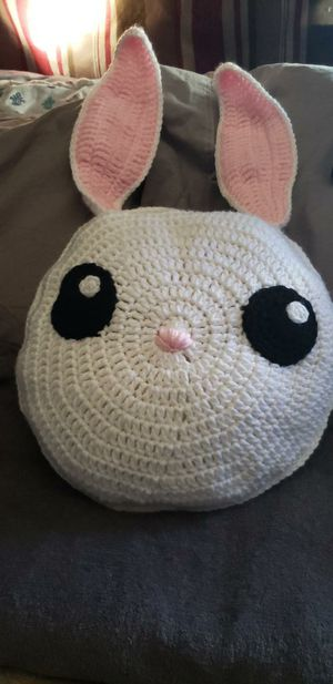 Crochet Bunny Pillow for Sale in Downey, CA