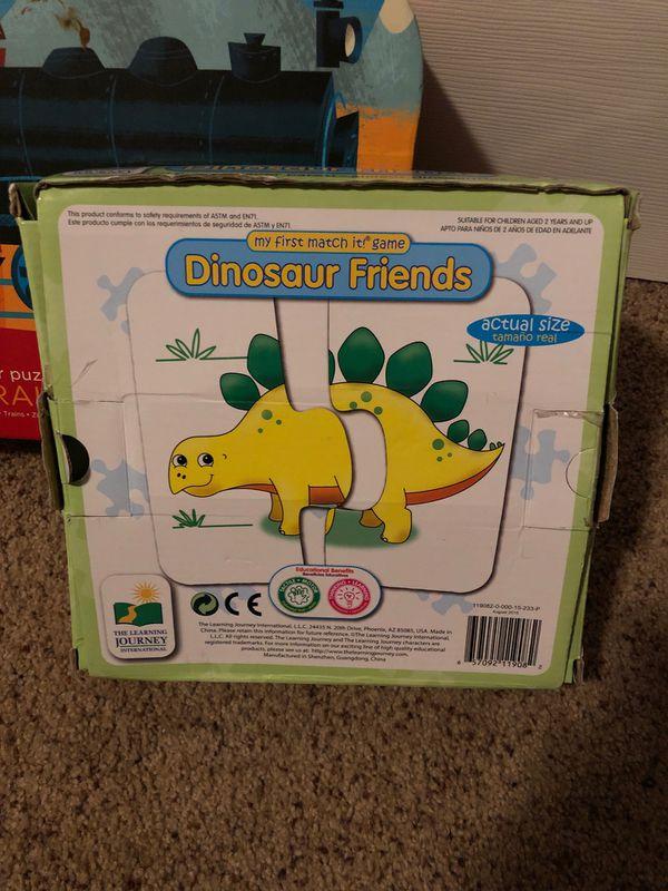 Puzzles kids trains matching dinosaurs, Melissa and Doug jungle safari puzzle games
