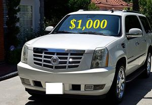 $1.OOO I'm selling urgently 2OO8 Cadillac Escalade SUV V8. for Sale in Fresno, CA