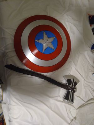 Marvel captain America shield and Thor axe hammer for Sale in Sioux City, IA