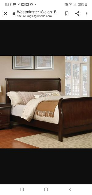 King sized sleigh bed frame for Sale in Jupiter, FL