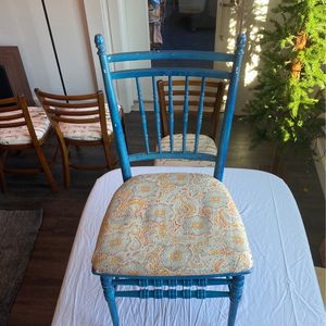 Wooden Blue Chair for Sale in Denver, CO