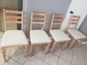 IKEA Wooden/Fabric Dining Chairs for Sale in Austin, TX