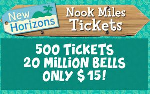 500 Nook Miles Tickets and 20m Bells[Animal Crossing New Horizons] for Sale in Gainesville, FL
