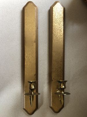 Vintage candle sconces for Sale in CHARLOTTE C H, VA