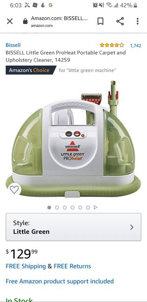 BISSELL Little Green ProHeat Portable Carpet and Upholstery Cleaner, 14259 for Sale in Paramount, CA